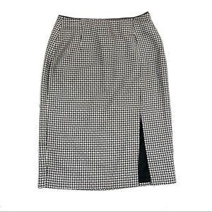 WHBM basketweave pencil skirt w/ side slit - 0